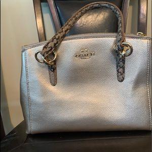 Gold Coach hand bag